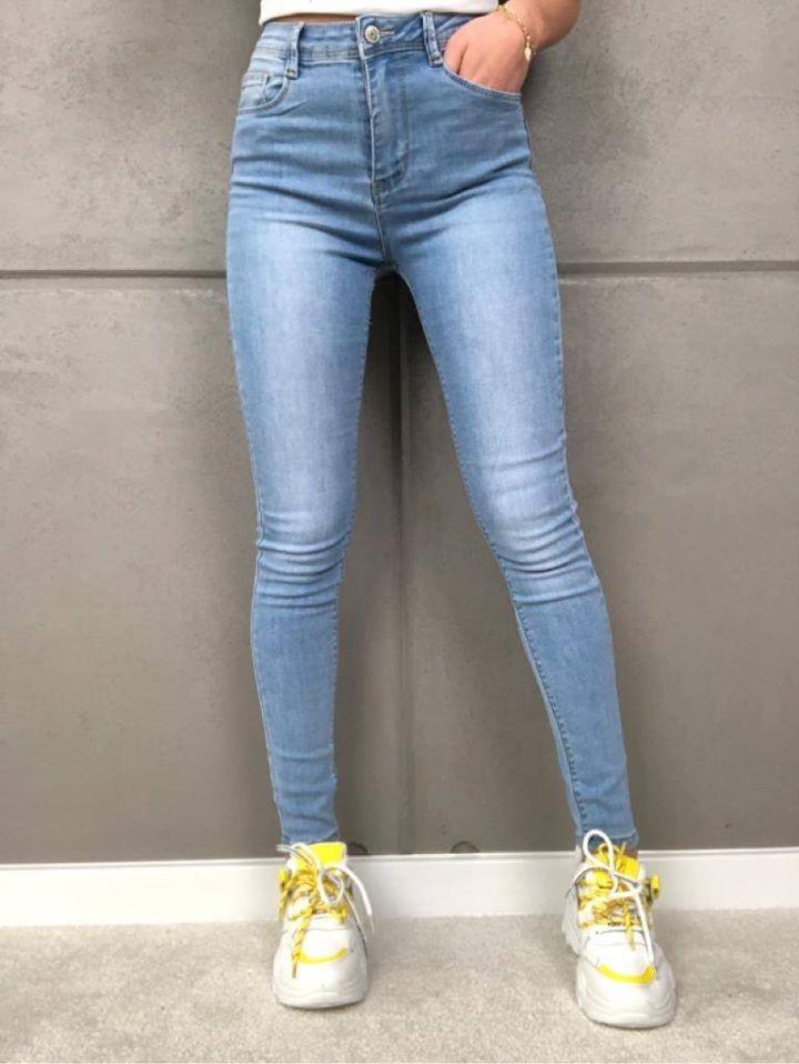 spodnie jeansowe niebieskie gladkie