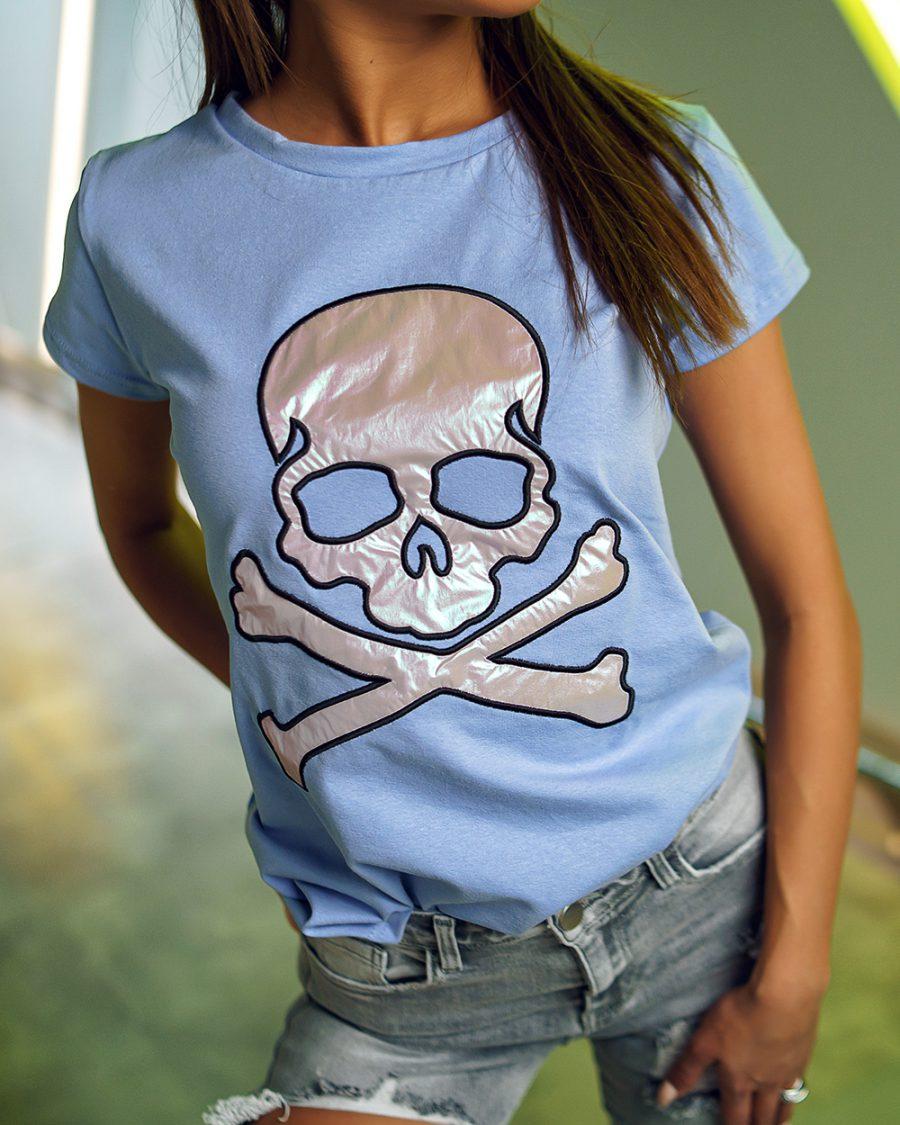 koszulka damska z czaszka na krotki rekaw (1)
