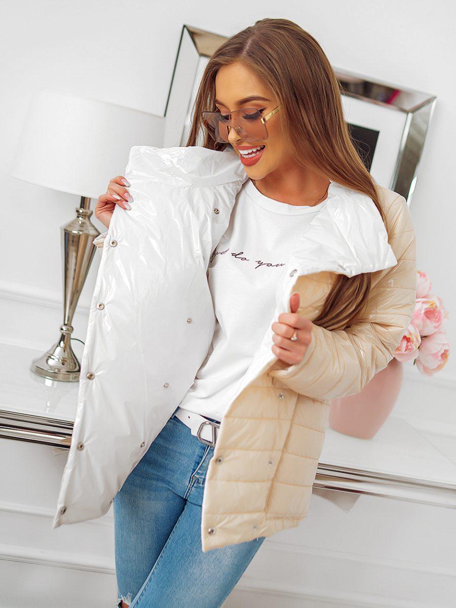 kurtka dwustronna beżowo biała (1)