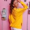 bluza damska asymetryczna famme morelowy (1)