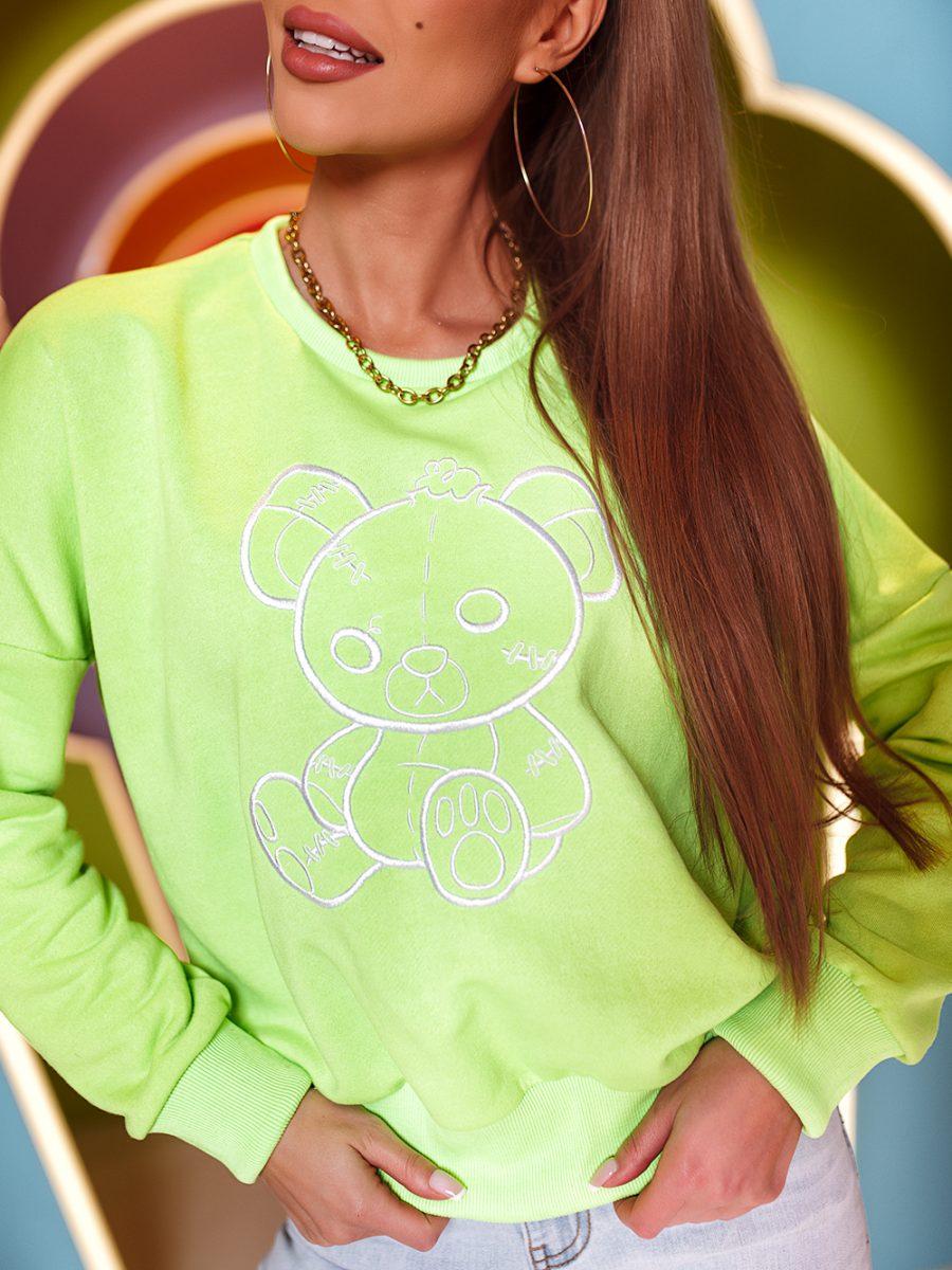 bluza z haftowanym misiem (1)