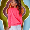bluza z haftowanym misiem neon roz (1)