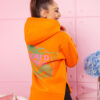 bluza damska bawelniana z zamkami po bokach nadruk na plecach i na piersi pomarancz (1)