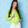 kurtka bomberka damska pikowana ze sciagaczem ingrosso jasno zielona (1)