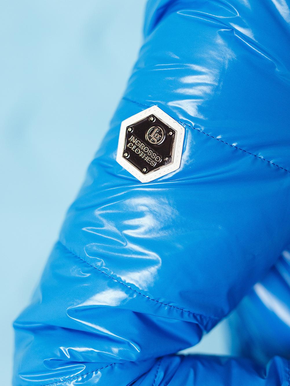 kurtka bomberka damska pikowana ze sciagaczem ingrosso niebieska (4)