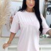 sukienka dlugi t shirt z haftem ingrosso jasny roz
