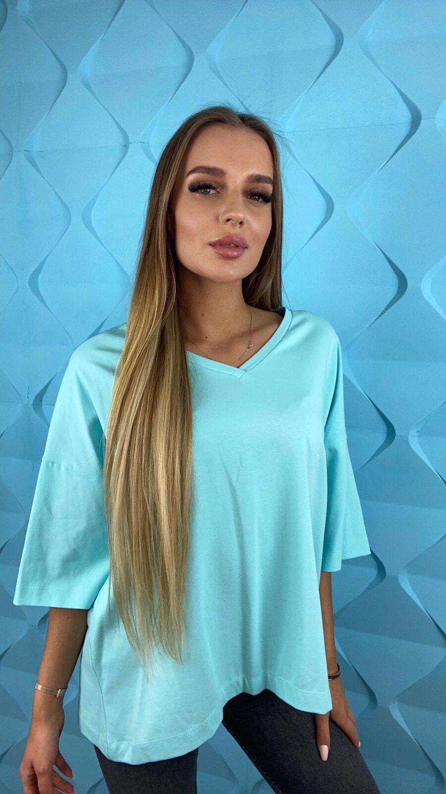 koszulki tshirty damskie duze rozmiary blekit2
