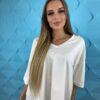 koszulki tshirty damskie duze rozmiary ecru