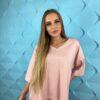 koszulki tshirty damskie duze rozmiary puder roz
