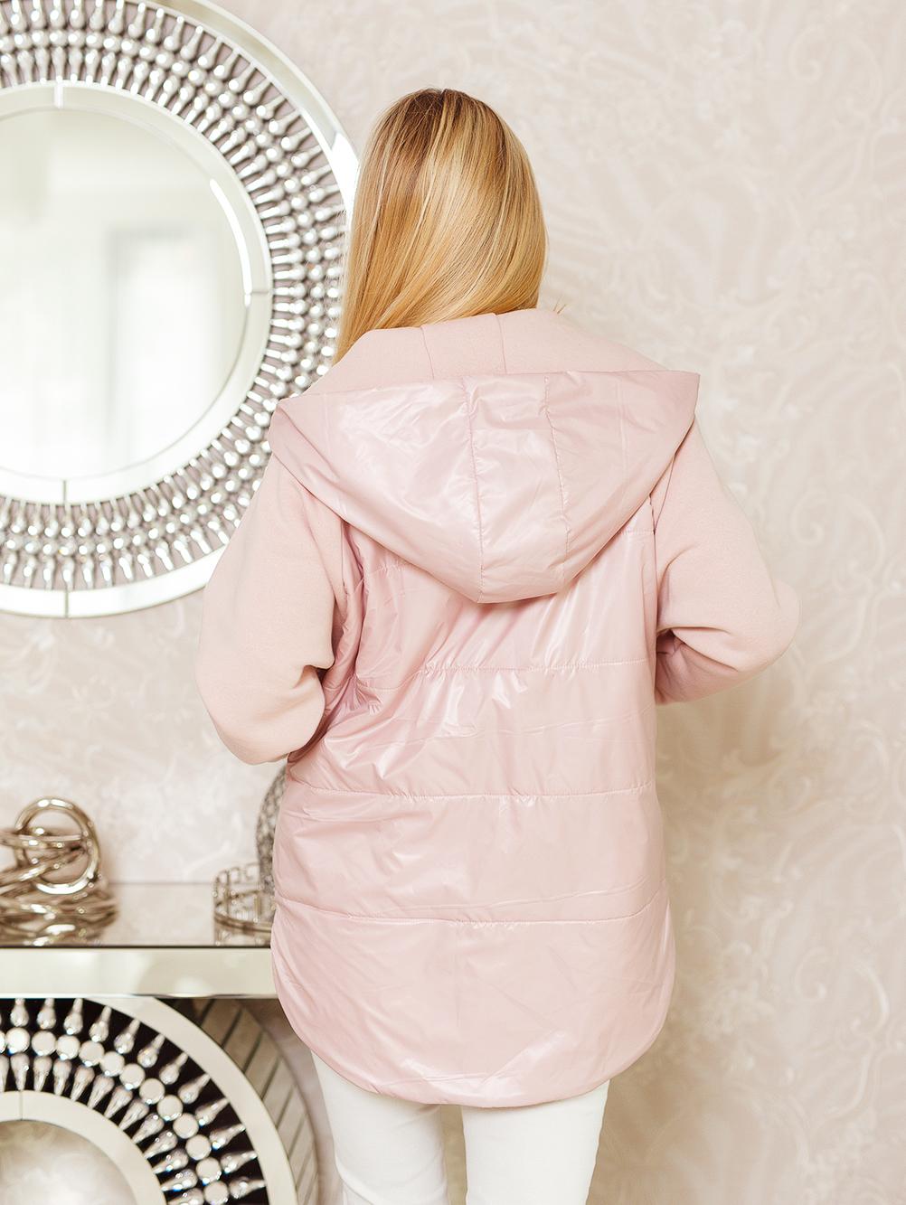 Bluza ortalionowa z kapturem jasny róż 4